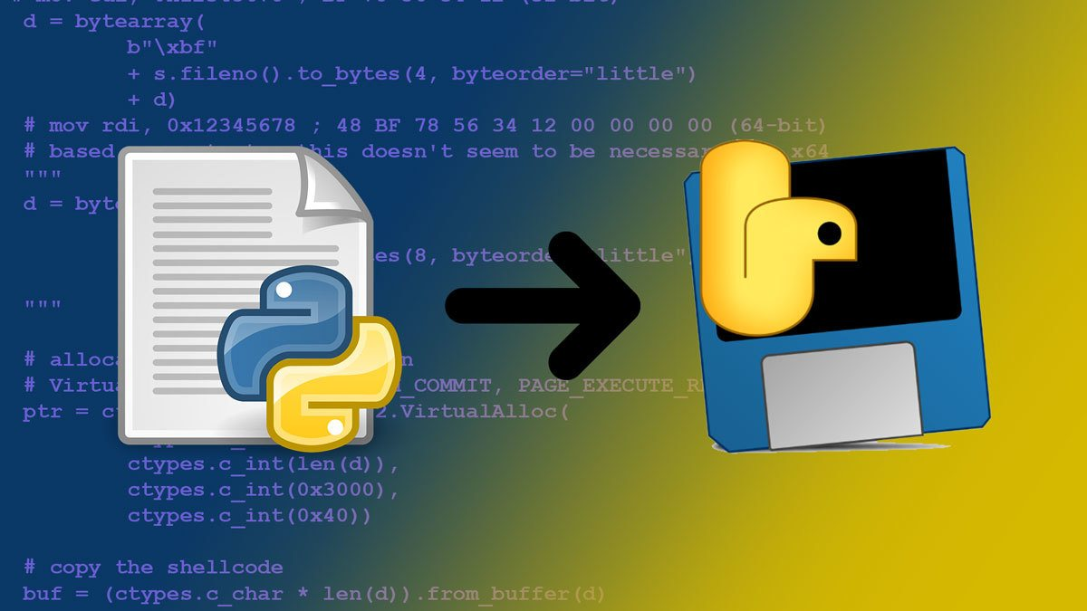 How to compile Python scripts with PyInstaller